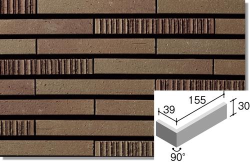 ニッタイ工業株式会社 外装壁タイル グラデミックス(接着剤張り工法) GDM-6H-40 ボーダー曲り(接着)