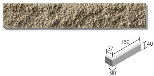 ニッタイ工業株式会社 外装壁タイル モデューロボーダー(接着剤張り工法) MOD-004M ボーダー曲り(テッセラ面)(接着)