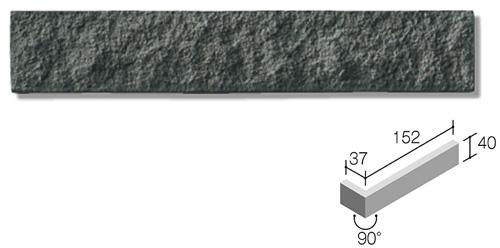 ニッタイ工業株式会社 外装壁タイル モデューロボーダー(接着剤張り工法) MOD-006M ボーダー曲り(テッセラ面)(接着)