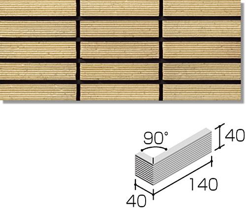 ニッタイ工業株式会社 外装壁タイル オルマボーダー(接着剤張り工法) OM-6H-10 ボーダー標準曲り(筋面)(接着)<接>