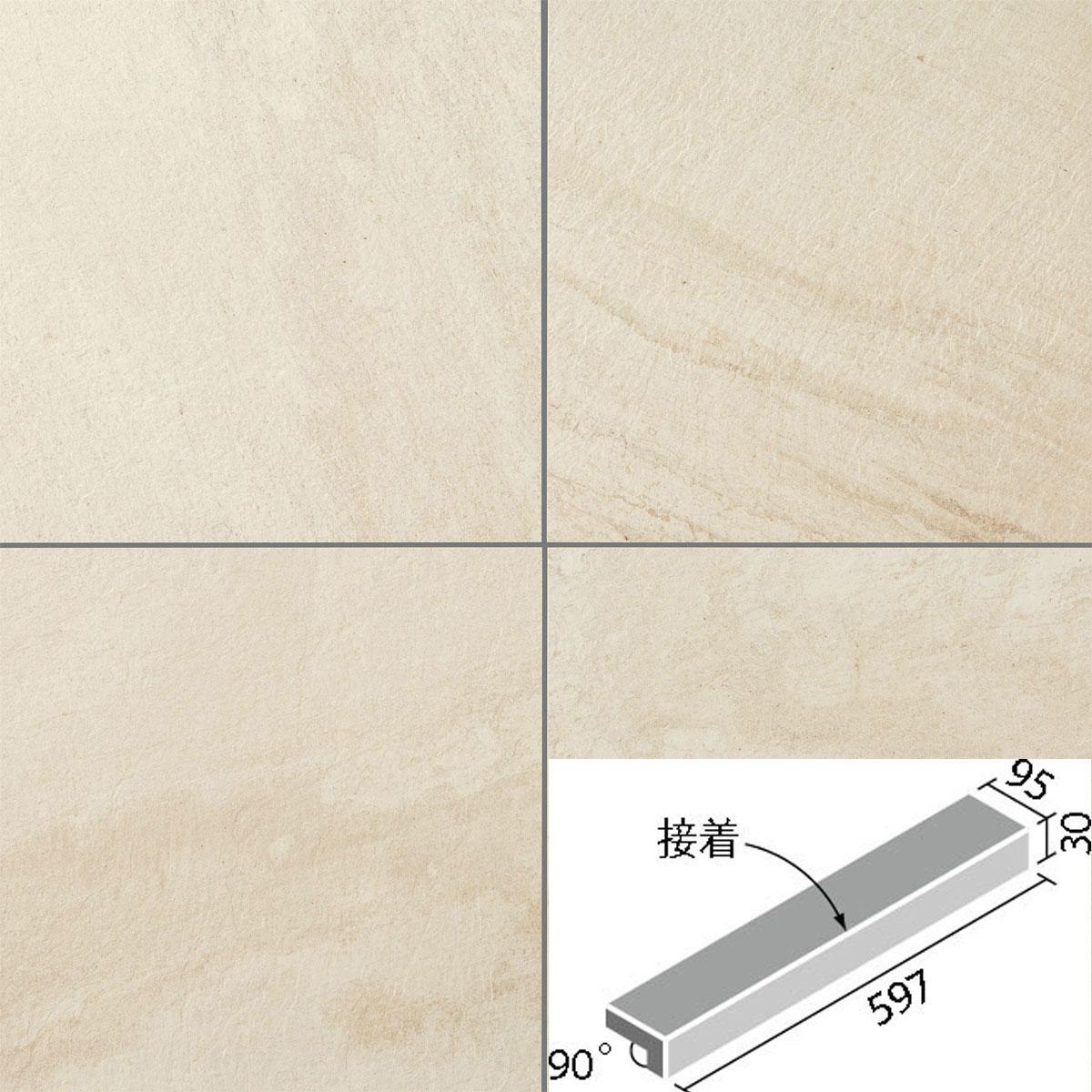 LIXIL(INAX) バレッジ 外床タイプ 600x100角垂れ付き段鼻(接着) IPF-601/VLD-12