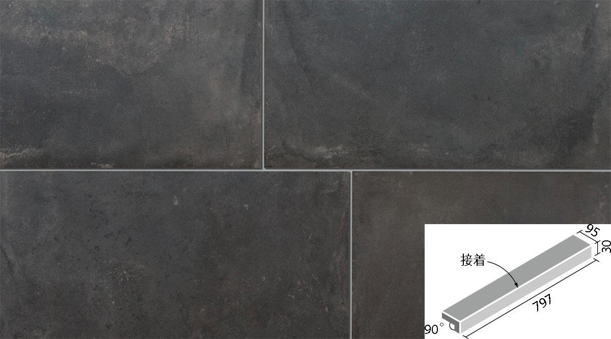 フォルテロック 外床タイプ 800x100角垂れ付き段鼻(接着) IPF-801/FTR-16