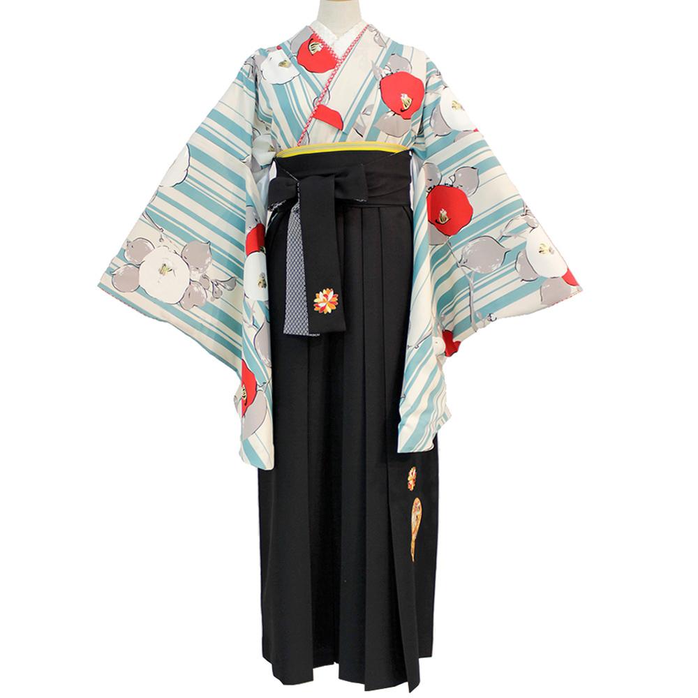 二尺袖 着物 袴セット 九重 袴下95cm Lサイズ卒業式袴セット 貸衣装 卒業式 あす楽 送料無料