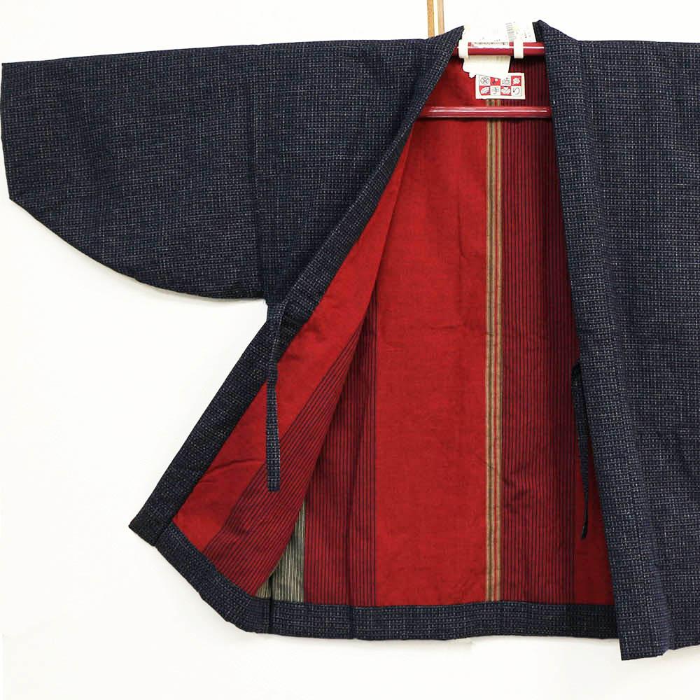 真綿半纏 婦人半天 中わた絹100% はんてん 袢纏 半纏 半天 レディース 日本製 フリーサイズ 久留米絣