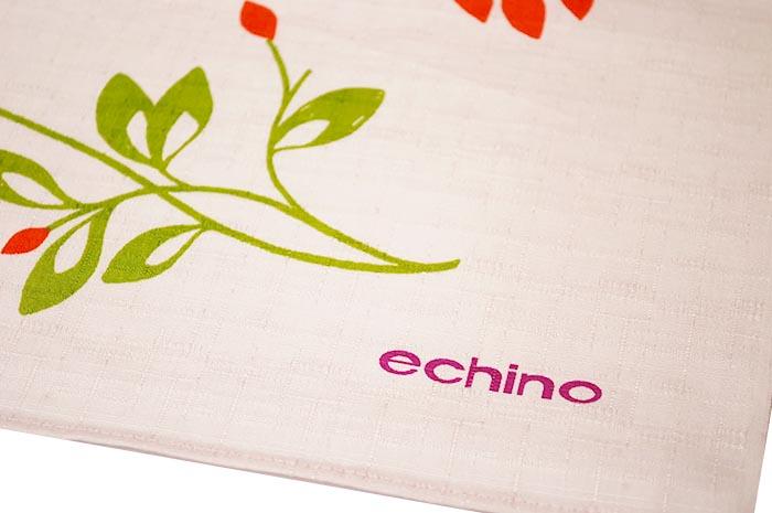 echino エチノ 綿大風呂敷 chirping さえずり rassland 草原 lizard トカゲ 約118cm 大判 おしゃれ ふろしき 生地 クロス