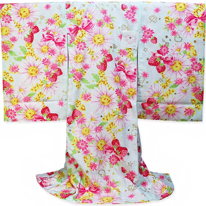 女児 祝い着 初着 SEIKO MATSUDA kimono KIDS 松田聖子 スカイ お宮参りのきもの 産着/のしめ/一つ身/祝着/百日参りの着物/百日祝い/七五三【あす楽対応_関東】