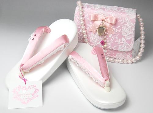 七五三 草履バックセット 松田聖子 SEIKO MATSUDA 7歳きもの用 2色 和装草履