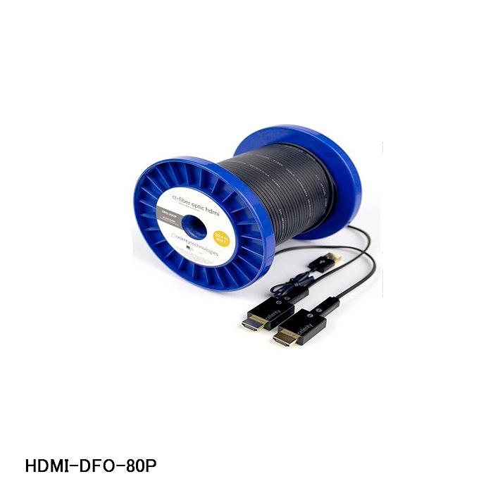【15時までのご注文で当日発送可能(土日祝日除く)】4K・FHD(1080p)対応 ケーブル・コネクター分離タイプ 光ファイバーHDMIケーブル 【在庫処分品】【Celerity Technologies】光ファイバHDMIケーブル 24.3m (80フィート) HDMI-DFO-80P【A】弱電機器その他