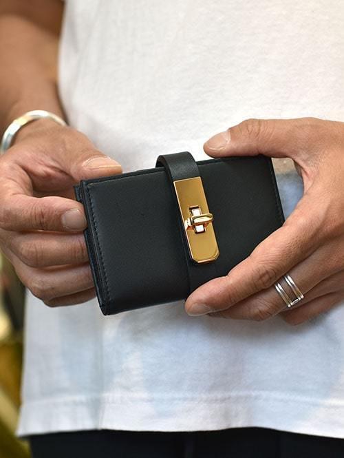 M.U.L Leather SMALL WALLET BLACK小さめ 財布 男性用 女性用 ユニセックス  日本製 ハンドメイト