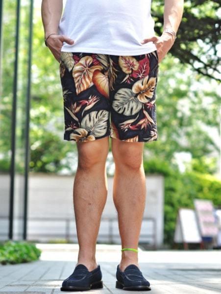 SUNLIGHT BELIEVER ALOHA SHORTS  メンズ 花柄 フラワー ショートパンツ