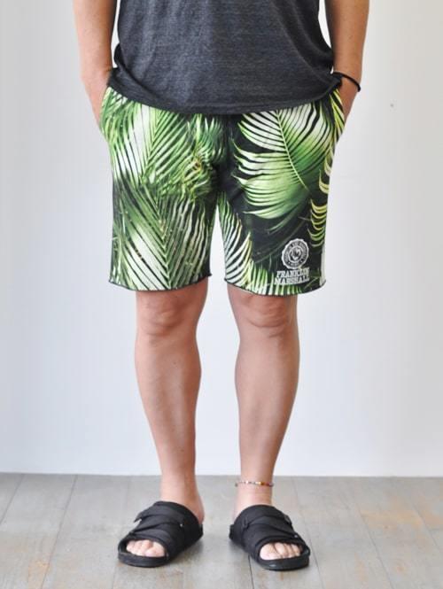 FRANKLIN MARSHALL フランクリンマーシャルリーフ ハワイアン ショーツ薄手 涼しい ショートパンツ