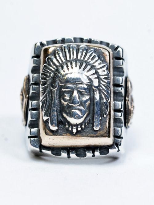 HTC(ハリウッド トレーディング カンパニー) MEXICAN RING エイチティーシー メキシカンリング インディアン メンズ指輪