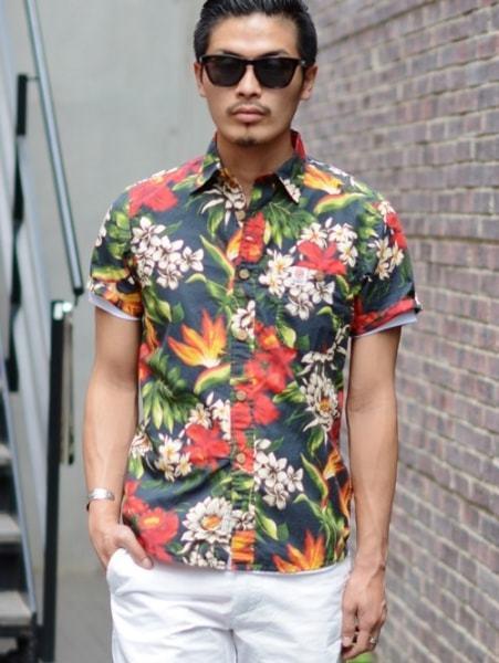 FRANKLIN MARSHALL フランクリンマーシャル イタリア製 メンズ 花柄 フラワー シャツ