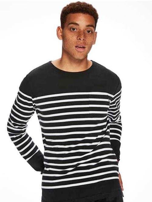 SCOTCH&SODA Breton Striped スコッチアンドソーダ ボーダー ロンティー 黒ベース 白ライン 長袖 Tシャツ 原宿エトフ
