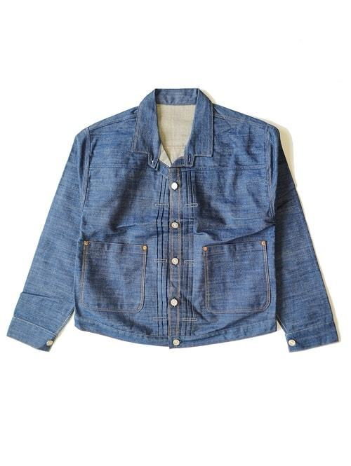 LEVI'S VINTAGE CLOTHING リーバイス ヴィンテージクロージング 1880 Triple Pleat Blouse  Limited production brand new   トリプルプレートブラウス 復刻デザイン 限定品 インディゴ セルビッチデニム アメリカ製 ジージャン