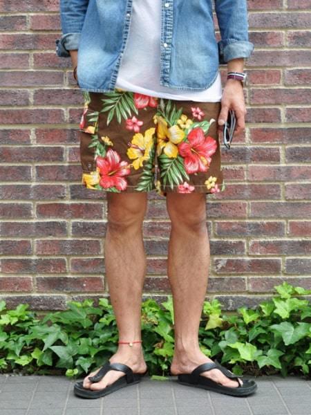Ralph Lauren USA ラルフローレン フラワーショーツ メンズ 花柄 フラワー ショートパンツ スイムパンツ輸入品 大きめショートパンツ 水着 対応
