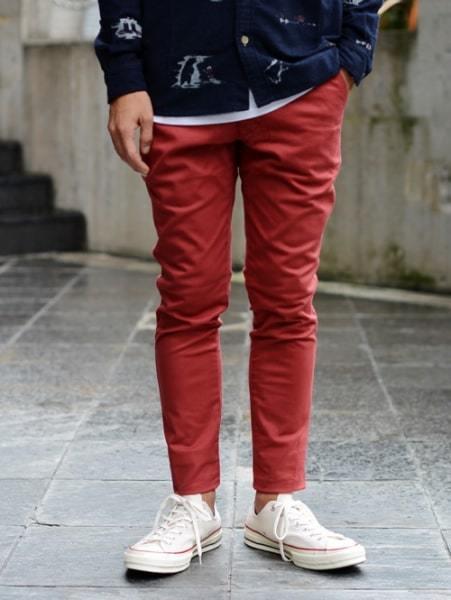 T.C.S.S MR PERFECT PANT CHINO ティーシーエスエスタイトパンツ 赤 RED レッド カラー パンツ サーフ系