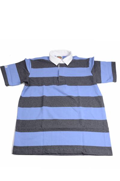 バーバリアン BARBARIAN QSE-08半袖レギュラーカラーラガーシャツ 8ozライトウエイト USA産コットン100% チャコール・ブルー