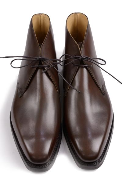 クロケット&ジョーンズ メインコレクション ブーツシリーズ テットベリー 5072 プレントゥ チャッカブーツ ダークブラウン ワックスカーフ