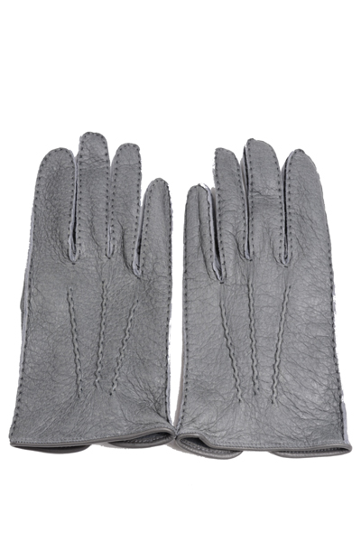 デンツメンズ DENTS 英国王室ご用達ペッカリーレザーグローブ(革手袋、南米の猪豚科)グレー アウトシーム ノーライニング