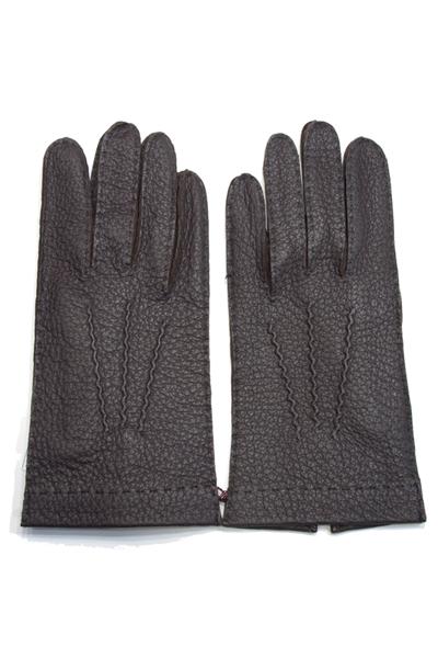 デンツ手袋(DENTS) メンズ用レザーグローブ(革手袋/LEATHER GLOVE)ペッカリー(PECCARY/南米産/猪豚科)ノーライニング バーク(BARK)