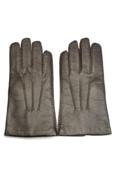 デンツ手袋(DENTS) メンズ用レザーグローブ(革手袋/LEATHER GLOVE)ヘアシープスキン(SHEEPSKIN)ラムズウールライニング No.5-1527 ブラウン(BROWN)
