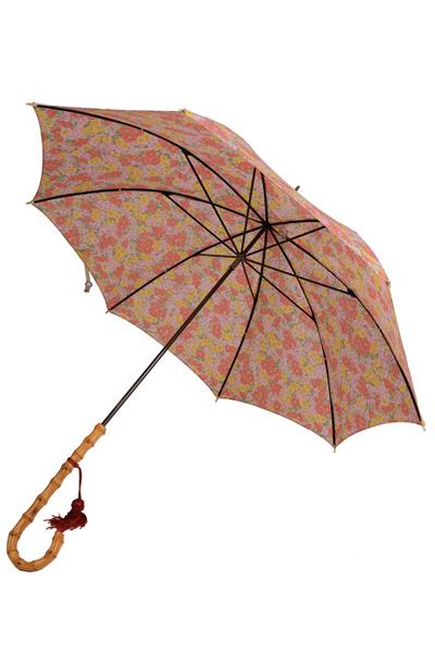 フォックス・アンブレラズ  レディース FOX UMBRELLAS WL4モデル ワンギーハンドル細巻きリバティープリント雨傘 UVカット ピンク系ガヴァー