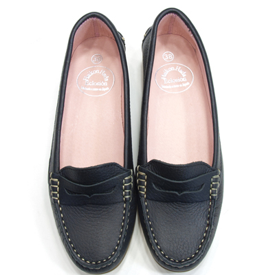 6f56356c862 Penny loafers. Shrink leather. Black HAIKONHADA PENNY LOAFER SHRINK LEATHER