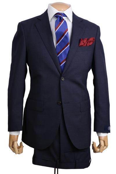J.PRESS(Jプレス)メンズ 秋冬用シングル2ボタンスーツ ニュー ジャックIIモデル ヴィンテージキューバービーチ素材 ネイビー