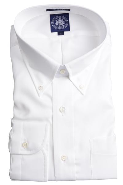 Jプレス メンズ J.PRESS MEN'S ボタンダウンシャツ 80/2スーピマピンオックス プレミアムプリーツ(形態安定機能)ブルー