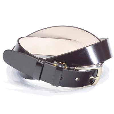 キース KIETH シェルコードバンロングサイズ一枚革ベルト チョコレート 109cmまで対応 フリーサイズ ノンステッチ ゴールドバックル ドレス用 スーツ用