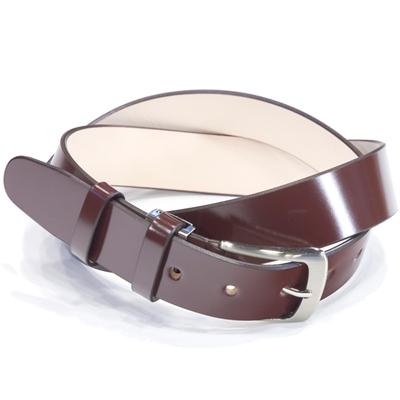 キース KIETH シェルコードバンロングサイズ一枚革ベルト ブラウン 109cmまで対応 フリーサイズ ノンステッチ シルバーバックル ドレス用 スーツ用