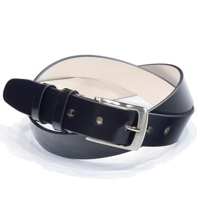 キース KIETH シェルコードバンフリーサイズ一枚革ベルト ブラック 96cmまで対応 ノンステッチ シルバーバックル ドレス用 スーツ用