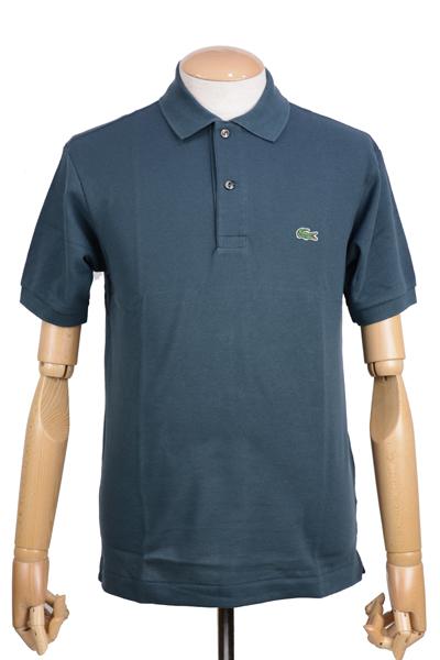 ラコステ(LACOSTE)メンズ 鹿の子半袖ポロシャツ L1212 アメリカ流通モデル アメラコ クラシックフィットモデル ケルプ