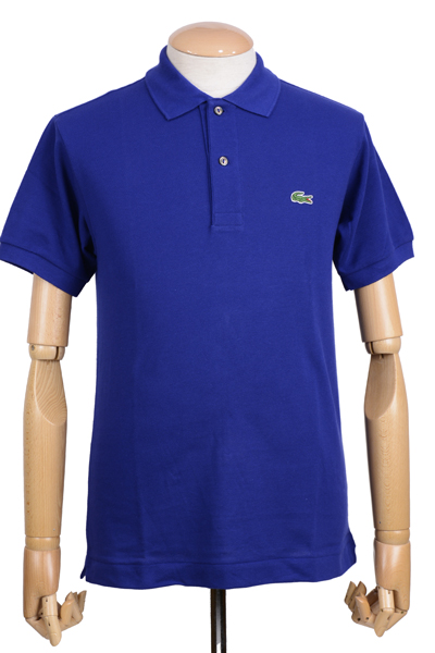ラコステ(LACOSTE)メンズ 鹿の子半袖ポロシャツ L1212 アメリカ流通モデル アメラコ クラシックフィットモデル オーシャン ブルー