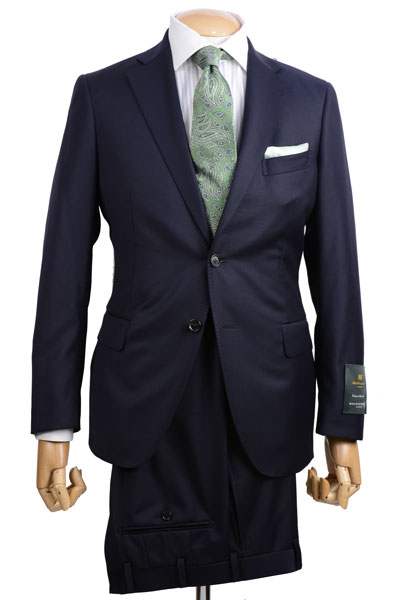 秋冬 マッキントッシュロンドン メンズ MACKINTOCH LONDON ビジネススーツ ネービー 2ボタンサイドベンツ 英国マーティンソン社生地 ツイル無地
