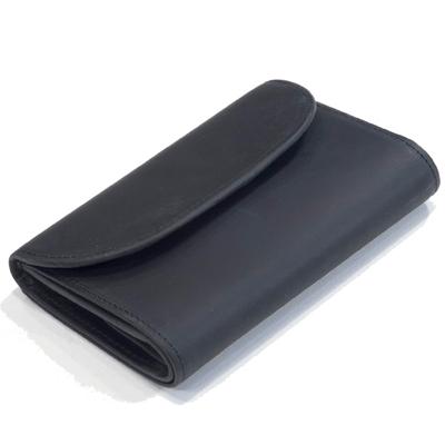 セトラー(SETTLER)WHCのセカンドライ ワンワールドコレクション ヌバックタイプ オイルドレザー OW1112 三つ折コインケース付財布(3FOLD WALLET)BLACK(ブラック)
