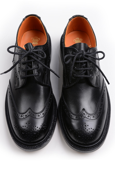 トリッカーズ レディースTRICKER'S LADIES ウィングチップ(短靴)カントリーシューズ アン L5679 ブラックカーフ レザーソール