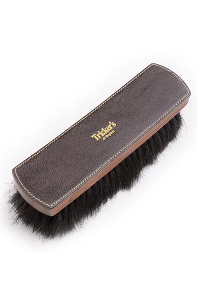 トリッカーズ 純正シューケアブラシ 靴のケア&メンテナンスの必需品 馬毛・豚毛混毛 サイズラージ(大)ブラック