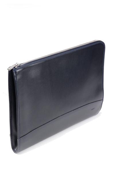 タスティング ドキュメント・ポートフォリオ クラッチバッグ(ドキュメントケース、ブリーフケース)携帯用書類入れ 牛革アトランテックレザー ネイビー