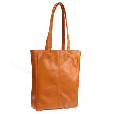 タスティング(TUSTING) 超軽量シューレザー(バッファロー/仔水牛革)のスチルトンM トートバッグ 折たたみ可能の一枚革 ORANGE(オレンジ)