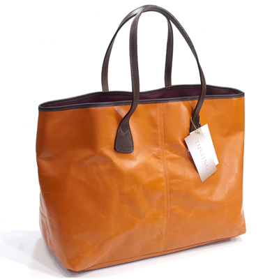 Tote Bag Orange Made By タスティング Tusting Bison Bythorn Shoo Leather Buffalo 仔水牛革 Super Light Weight