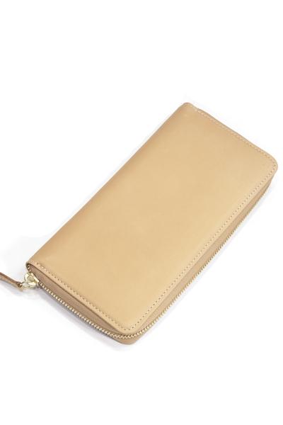 タスティング(TUSTING) ジップ アラウンド ロングウォレット(デカジップ/ZIP AROUND LONGWALLET) バイカラー財布 ヌメ革(イタリアンカーフ) ナチュラル(NATURAL)