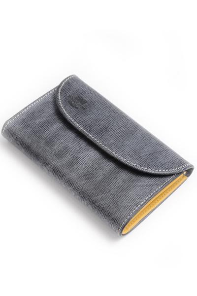 ホワイトハウスコックス WhitehouseCox S7660 コインケース付三つ折財布 ブラックxイエロー リージェントブライドルレザー ツートン ホリデーライン