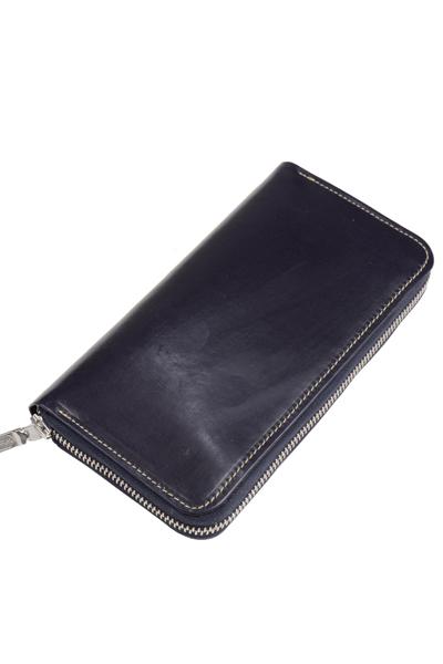 ホワイトハウスコックス S2622 長財布 ロングジップラウンドウオレット ブライドルレザー 大幅値下げランキング デカジップ ネイビー 海外輸入