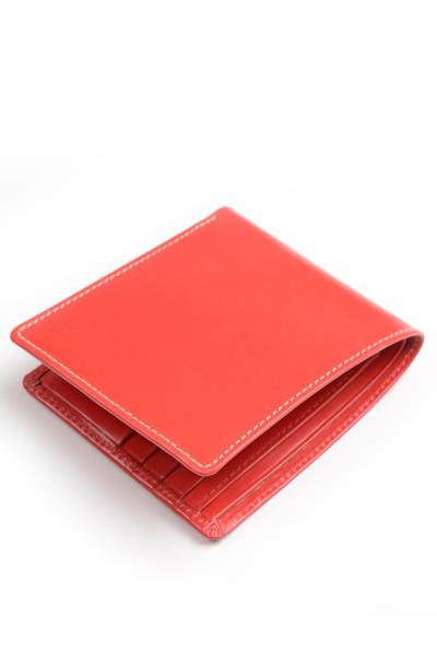 ホワイトハウスコックス Whitehouse Cox s8772 ノートケース レッド ブライドルレザー 小銭入れ無し二つ折り財布