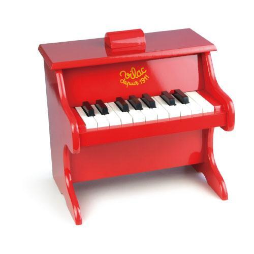 ヴィラック フランス 木のおもちゃ真っ赤でおしゃれなピアノ Vilac ピアノ 知育玩具 木製 キッズ 期間限定 おもちゃ 国内正規総代理店アイテム