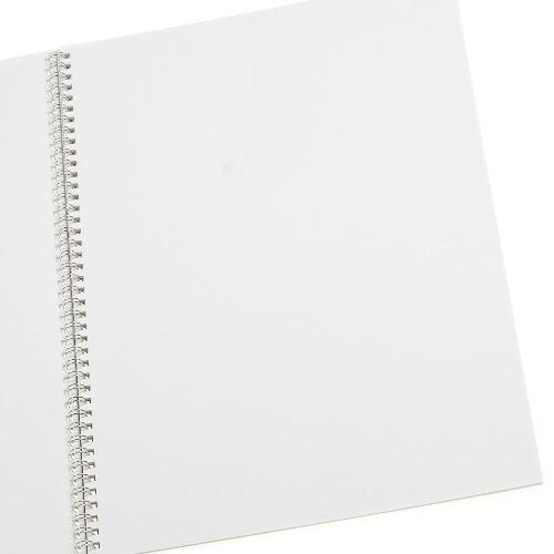 B4 スケッチブック SOLID white ( length 24 sheets plain paper cover PP ring stitch )