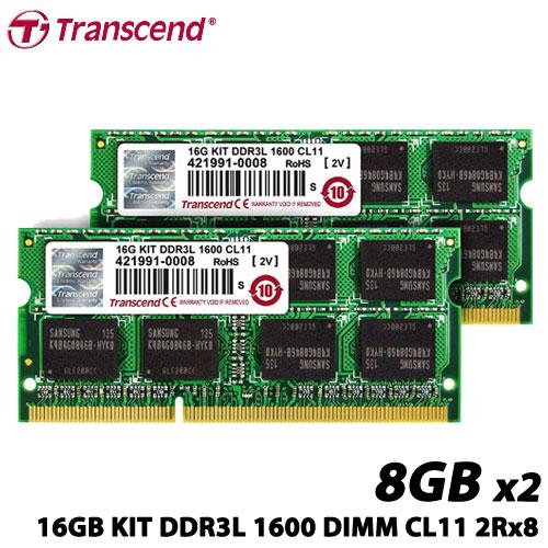 トランセンド TS1600KWSH-16GK [16GB KIT DDR3L 1600 DIMM CL11 2Rx8]
