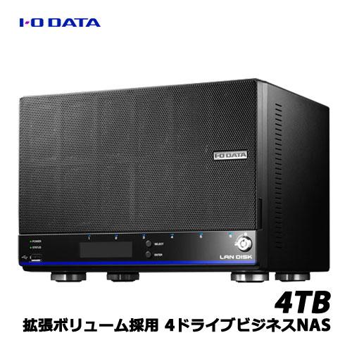 アイオーデータ HDL4-HEX HDL4-H4EX [「拡張ボリューム」採用 4ドライブビジネスNAS 4TB]